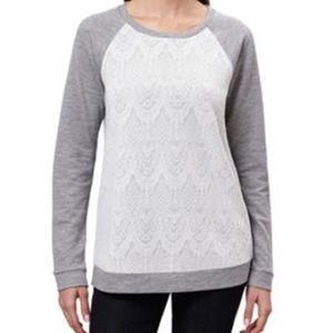 2/$20 NWOT women's lace sweatshirt size medium